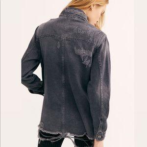 NWT Free People Moonchild Denim Shirt Jacket